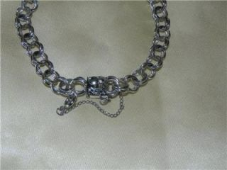 Vintage Sterling Silver Charm Bracelet w/o Charms~Nice & Heavy w