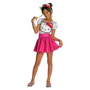 hello kitty sparkly tutu costume child s 4 5 6 new small pink cat girl