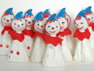 10 Vintage Radiant CLOWN Christmas Light Covers Circus Childrens Party