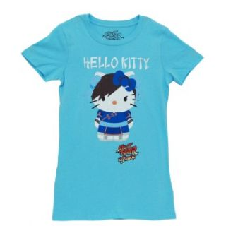 juniors babydoll t shirt tee sku ts2075 hello kitty street fighter x