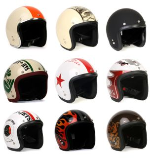 Vintage Motorcycle Scooter Fashion Bike Jet Helmet with Shield