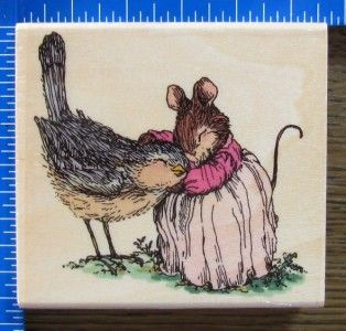 Holly Pond Hill Rubber Stamp Rachel Bird Sarah Mouse Love Friendship x