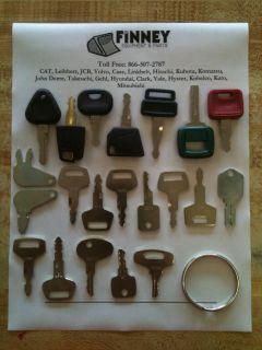 Heavy Construction Equipment Sitemaster Key Set Hitachi Linkbelt