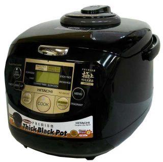 Hitachi Rice Cooker RZ XM10Y Black Warmer Steamer 5 5 Cups 220 240V