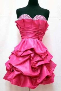 #1807 Strapless Sweet 16 Short Homecoming Prom Dress