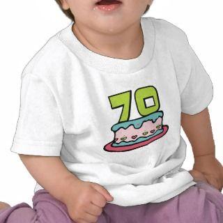 Torta de cumpleaños de 70 años t shirts de
