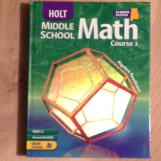 Holt Middle School Math Course 3 Student Text Book Unused