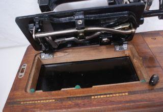 Antique German w J Harris Defiance 3 Hand Crank Sewing Machine Singer