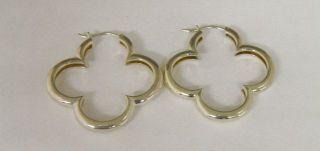 Heidi Klum Sterling Silver Clover Hoop Pierced Earrings