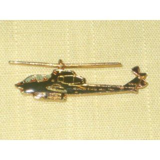 Vintage Enamel Gold Tone  United States Army  Helicopter