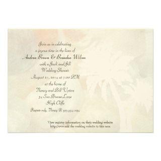Tropical Jingle Shells Wedding Shower Invitation