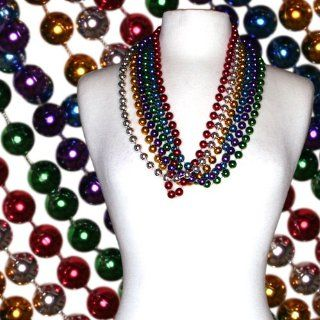 33 12mm Round Assorted Colored Mardi Gras Bead Case