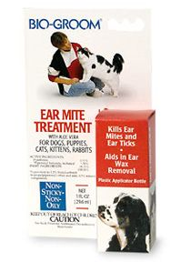 Bio Groom EAR MITE TREATMENT for Dogs, Cats, Rabbits, etc. 1 oz