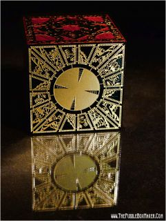 Hellraiser Puzzle Box Solid Mahogany and Etched Brass