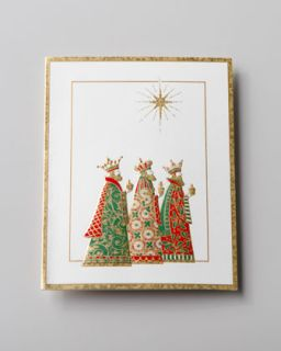 Caspari 50 Three Wise Men Embossed Christmas Cards   Neiman Marcus