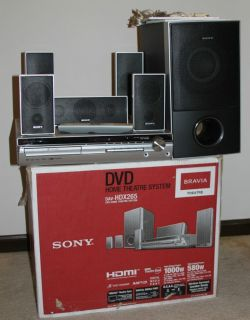 Bravia DAV HDX265 Home Theater System 5 1 Channel DVD w BOX Manuals