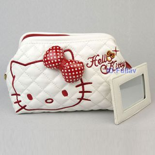 Hello Kitty Cosmetic Makeup Bag Purse with Mirror 448