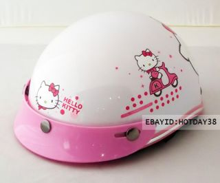 Hello Kitty Motorcycle Bicycle Bike Cartoon Helmet Children Kids Boys