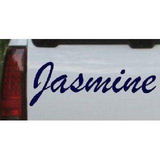 Navy 60in X 20.0in    Jasmine Car Window Wall Laptop Decal Sticker