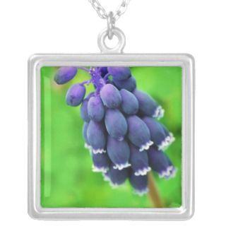 Bright Purple Flower Custom Necklace