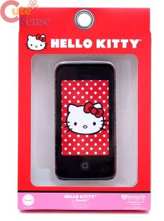 Hello Kitty Apple I Phone 4G Case Loungefly Nerd Plaid