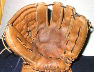 Harvey Kuenn Vintage Baseball Glove Wilson A2024 USA