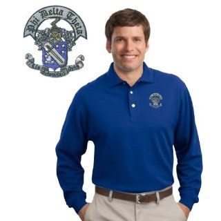 Phi Delta Theta Patch Long Sleeve Polo Clothing