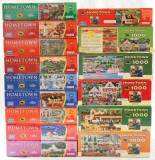 Hometown Collection Heronim 1000 Piece Jigsaw Puzzle Lot 15 2011 2010