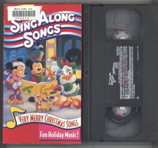 Songs Very Merry Christmas Songs VHS 2002 Fun Holiday Music