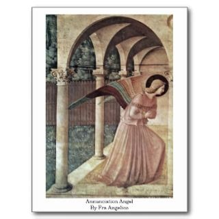 Annunciation Angel By Fra Angelico Post Cards