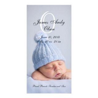 Baby Boy Birth Announcement Photo Cards