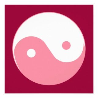 Pink Yin Yang Symbol Invites