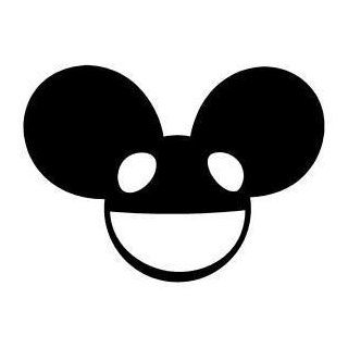 DEADMau5 Full Face Logo Vinyl Decal Sticker 3 BLACK