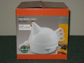 NEW HENRIETTA HEN EGG COOKER POACHED SOFT OR HARD BOILED CHIRPS WHEN