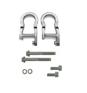 07 11 Chevy Silverado GMC Sierra Tow Hooks Kit Chrome New