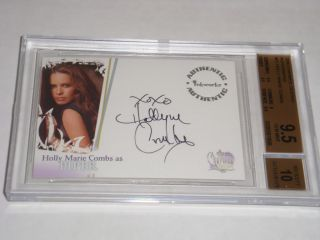 2006   Charmed Destiny Autographs HOLLY MARIE COMBS PIPER # A1