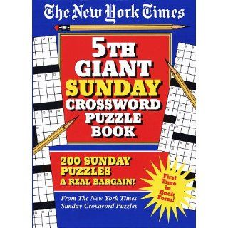 New York Times 5th Giant Sunday Crossword Puzzle Book