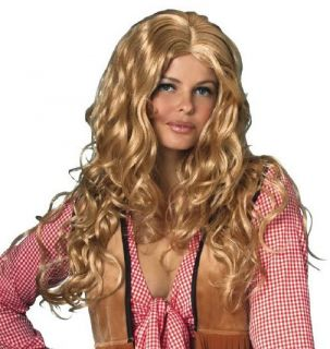 Honey Blonde Long Wavy Sultry Wig Halloween Costume Accessory Women