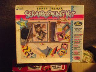 Super Deluxe Scrapbooking Kit NIB Album and Supplies