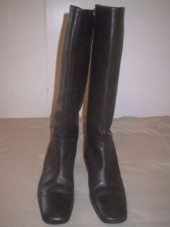 Designer Via Spiga Italian Made Leather Boots Womans size 8 5M Dark