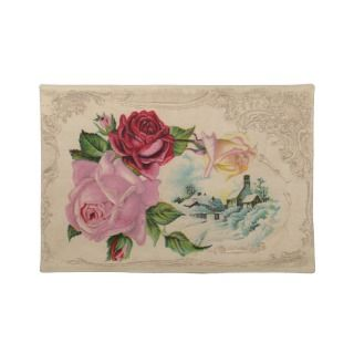 Victorian Winter Roses Placemat