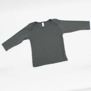 Infant Baby Rib Long Sleeve Lap Tee, Red, 6 12 Clothing