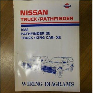 1988 Nissan Pathfinder SE Truck King Cab XE Wiring Diagram Service