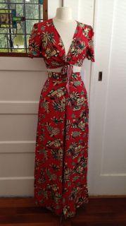 1940s Repro Hawaiian Tie Top Pants Set vintage style pin up dress up