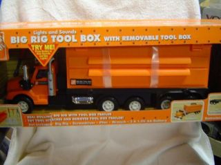 Home Depot Big Rig Tool Box Truck Light Sounds New