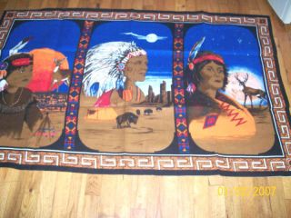 Cherokee North Carolina Indian Tapestry Wall Hanging