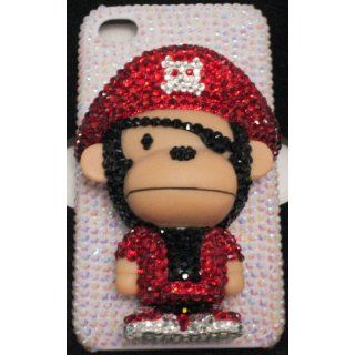 Nice Handmade Crystal 3D Monkey Iphone 4/4s Case + Screen