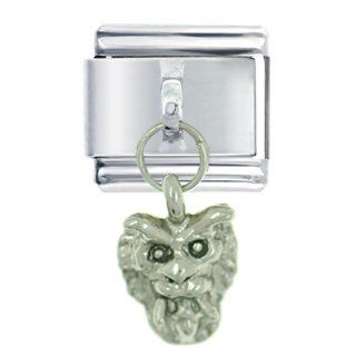 Pugster Silver Gothic Demon Dangle Italian Charms Jewelry