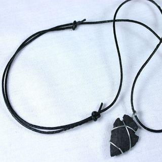 Native American Jewelry Flint Arrowhead Necklace 24