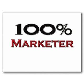 100 Percent Marketer Post Card